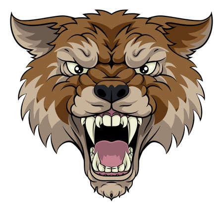 Wolf or Werewolf Monster Scary Dog Angry Mascot
