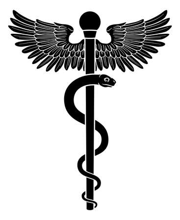 Rod of Asclepius Doctor Medical Symbol