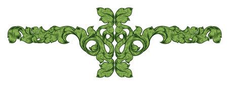 Filigree Leaf Pattern Floral Scroll Pattern