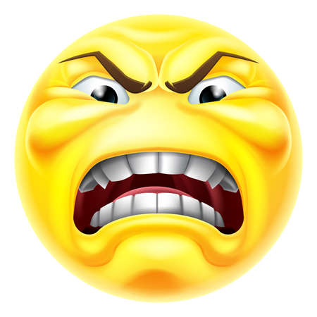 Angry Jealous Mad Hate Emoticon Cartoon Face