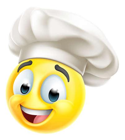 Chef Emoticon Cook Cartoon Face