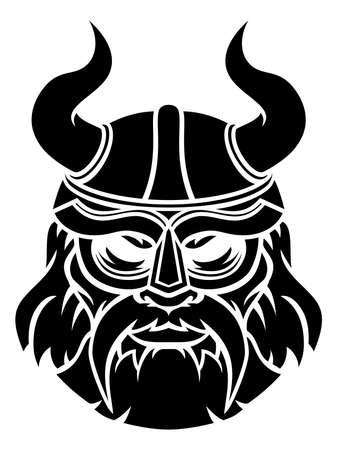 Viking Face Icon Vecteurs