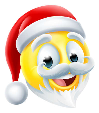 Santa Claus Christmas Happy Emoticon Cartoon Icon Ilustración de vector