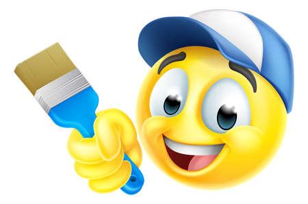 Painter Decorator Handyman Emoticon Emoji Icon