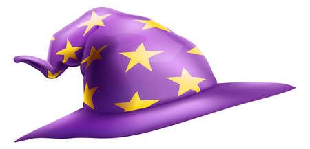 Wizard or Witch Hat Emoticon Emoji Cartoon Icon Иллюстрация