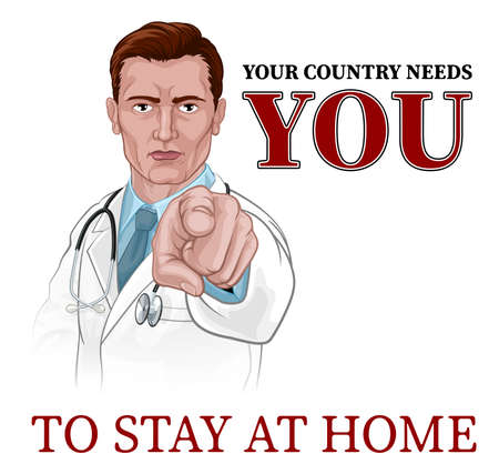 Doctor Pointing Your Country Needs You