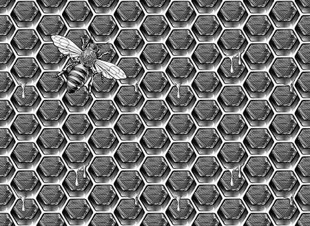 Bee Honeycomb Pattern Иллюстрация