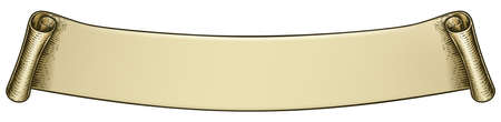 Scroll Vintage Woodcut Banner Paper Ribbon Drawing