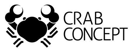 Crab Sign Label Icon Concept Иллюстрация
