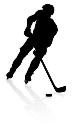 Ice Hockey Player Silhouette