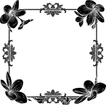 Plumeria Frangipani Tropical Flower Funeral Invite Illusztráció