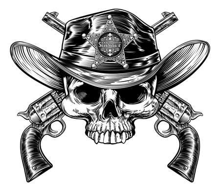 Skull and Crossed Pistols Sheriff