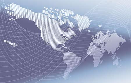 World Map Concept Background Illusztráció