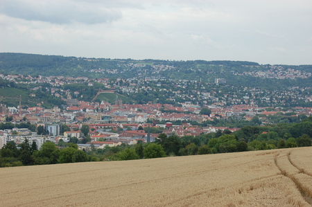 View of the city of Esslingen 스톡 콘텐츠
