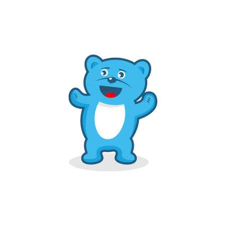 exited: Cute Teddy Bear
