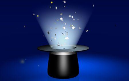 sorcery: Magic stars Stock Photo
