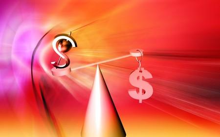 balanced: Dollar sign balanced