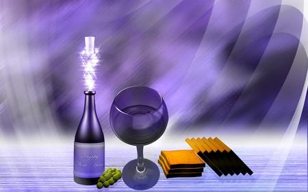 light emission: Wine and cake