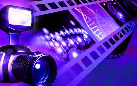 flashing: Camera with flashlight flashing