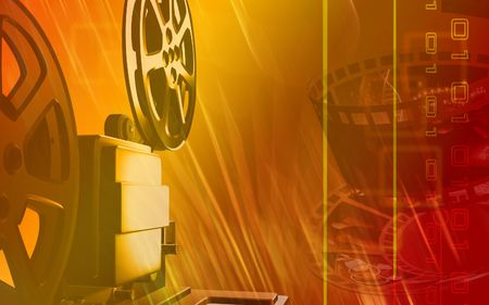 operational: Vintage projector  Stock Photo