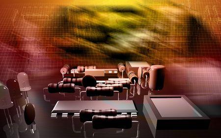 Electric circuit board   photo