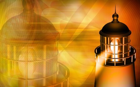 Light house with yellow light Stock Photo - 4603929