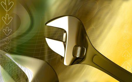 adjustable: Adjustable spanner  Stock Photo