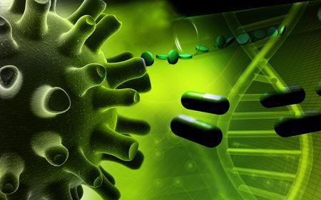 simplex: Herpes Simplex Virus   Stock Photo