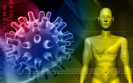 simplex:  human body in colour background