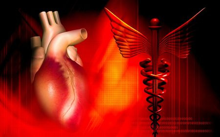 Heart with medical logo Stock Photo - 4627063