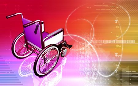 hinder: Wheel chair  Stock Photo