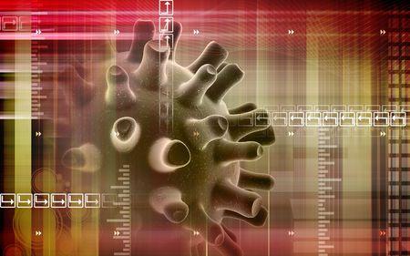 symbiotic: Virus    Stock Photo