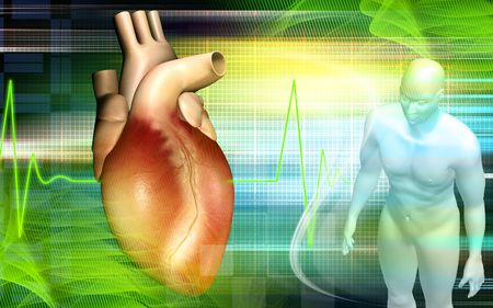anaesthesia: Heart and human body Stock Photo