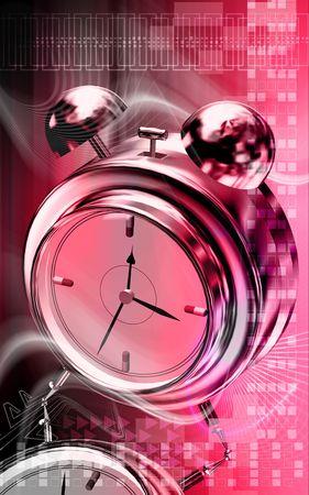 Capsule with alarm clock   photo