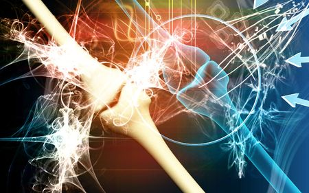 arthritis: Human leg bone joint