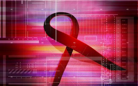 HIV ribbon   Stock Photo