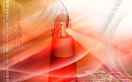 Light house with red light Stock Photo - 4626337