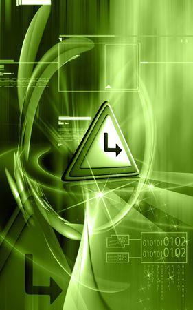 slow motion: warning sign