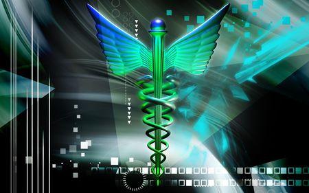 sceptre: Digital illustration of a medical symbol in   colour