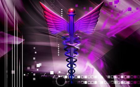 Digital illustration of a medical symbol in   colour Stock Illustration - 5203001