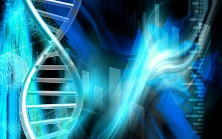 adenine: Digital illustration of a DNA   cells  in colour