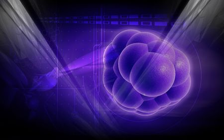 Digital illustration of stem cells in colour background  Stock Photo