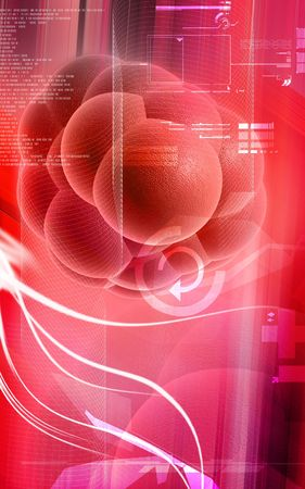 roda: Ilustraci�n digital de las c�lulas madre en el color de fondo