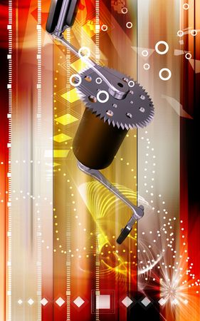 Digital illustration of  bicycle gear and pedal  illustration