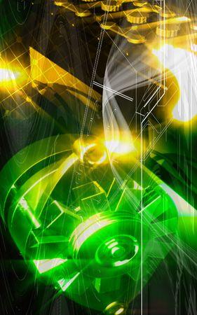 Digital illustration Of Alternator in colour background  illustration