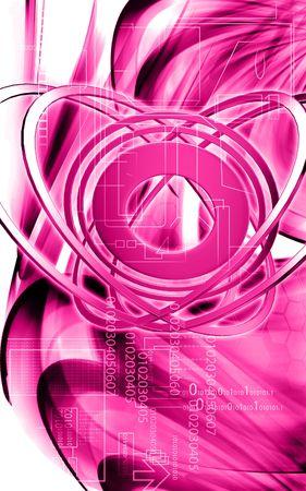 emission: Digital illustration of emission of rays in color background