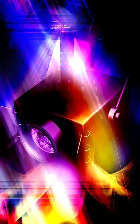 Digital illustration of a spot light in color background illustration