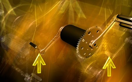 pedal: Digital illustration of  bicycle gear and pedal  Stock Photo