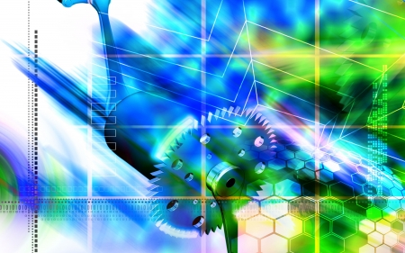 pedal: Digital illustration of of  bicycle gear and pedal