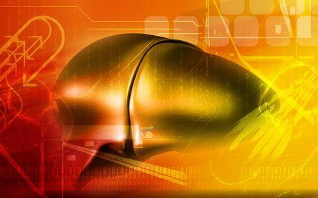 Digital illustration of  liver  in  colour  background  Stock Illustration - 5299897